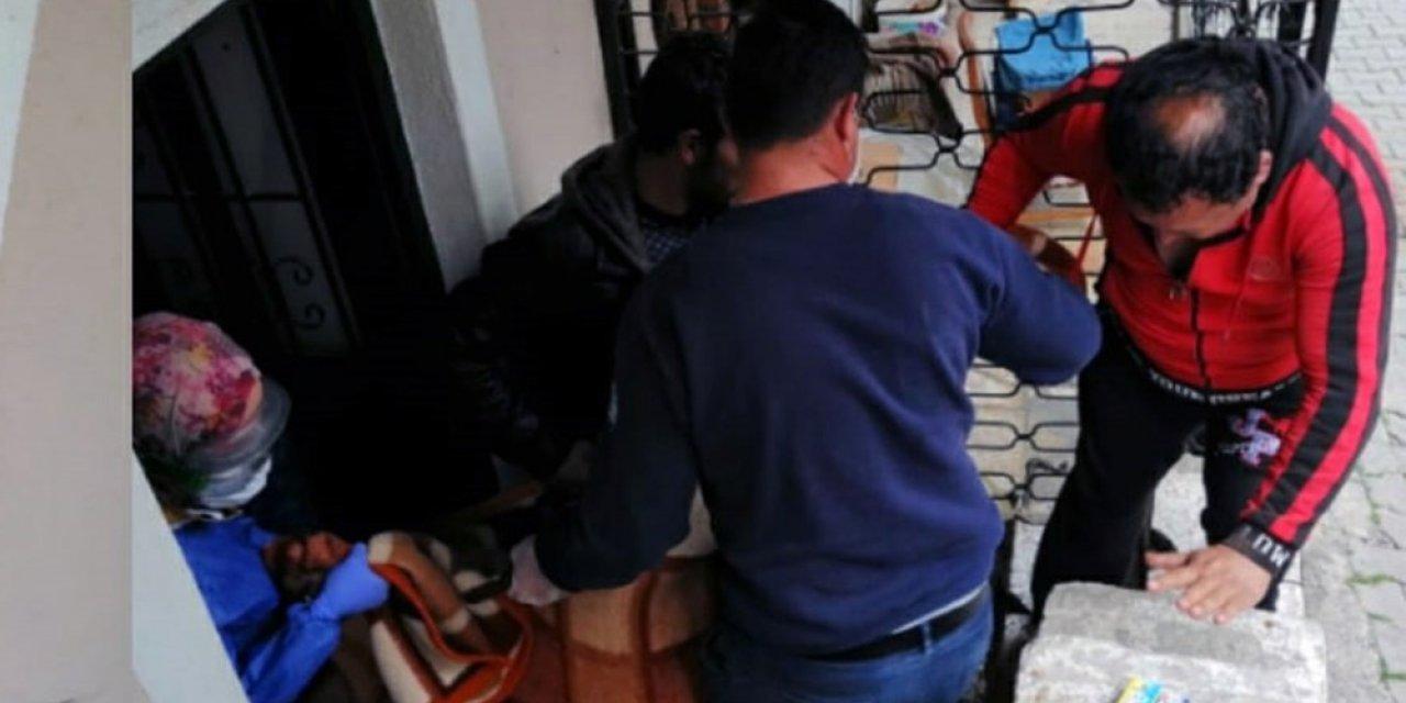 Mutfak tüpünden sızan gazdan yaşlı kadın zehirlendi