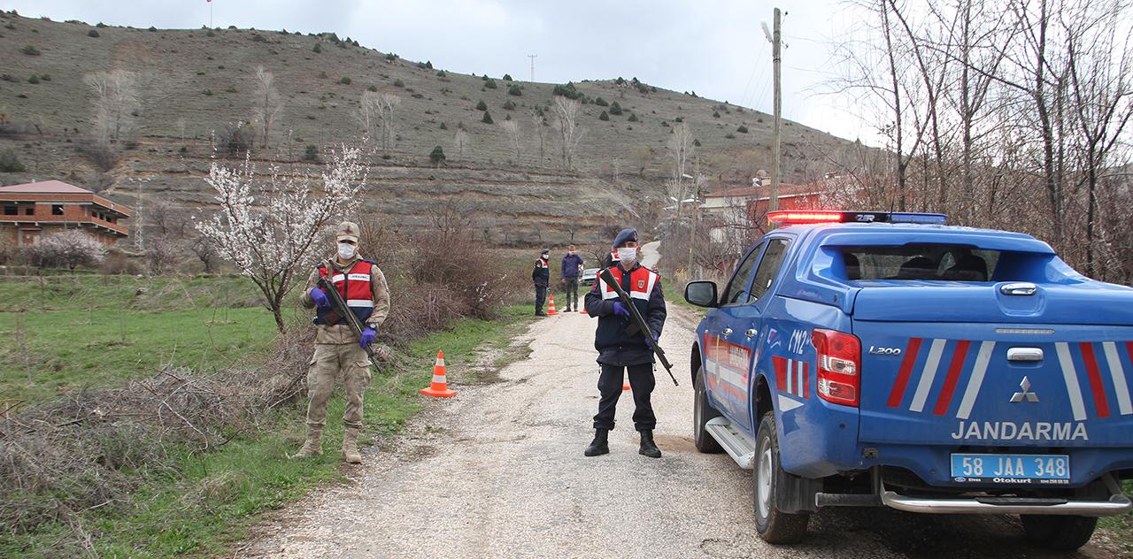 Sivas'ta 4 köy karantinaya alındı