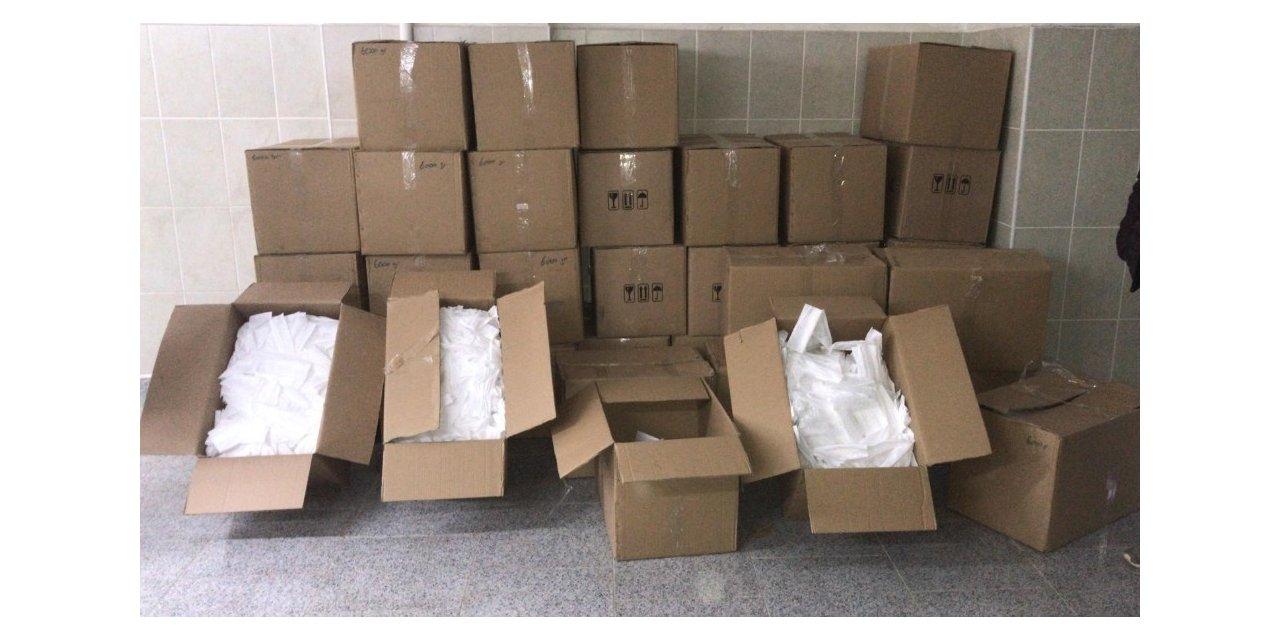 Ordu'da 90 bin adet kaçak maske ele geçirildi