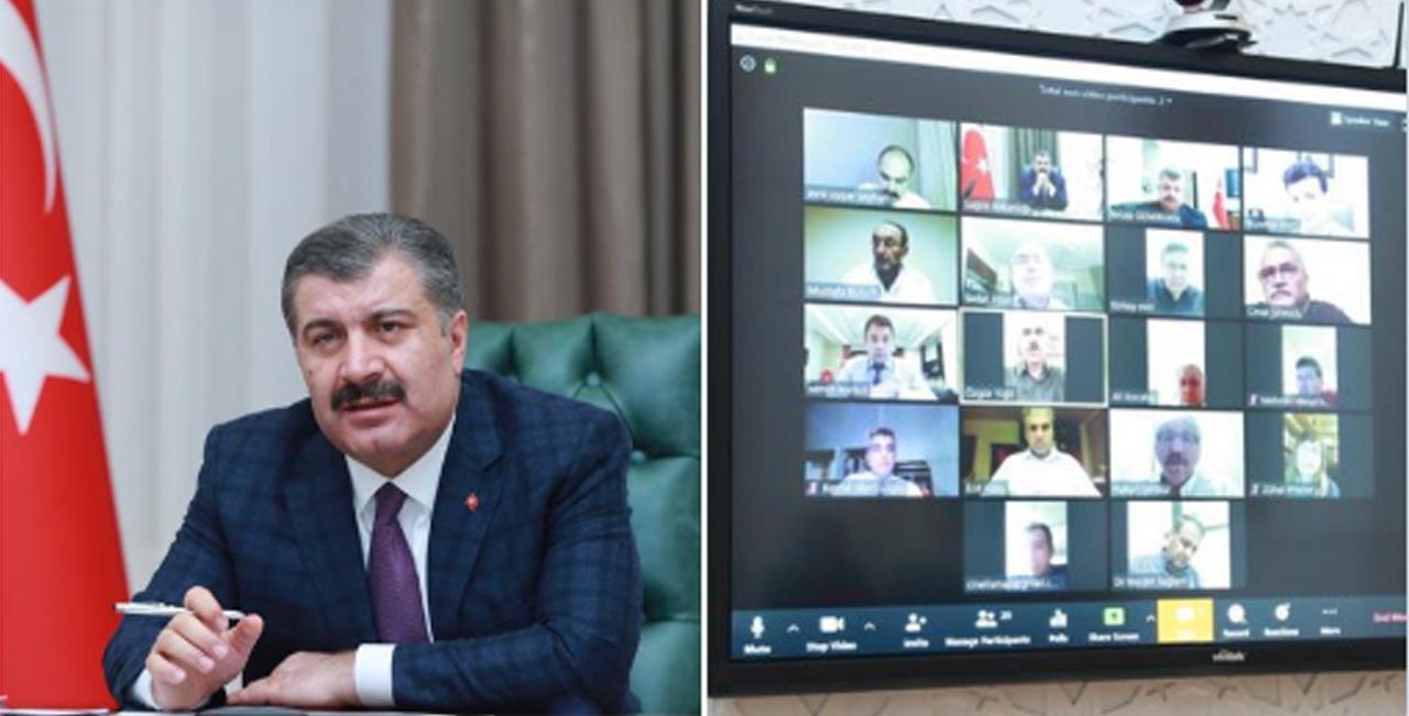 İstanbul için video konferanslı kovid toplantısı