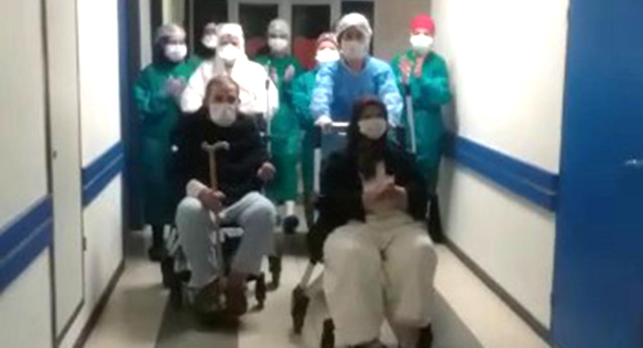 80 ve 81 yaşındaki Ulus çifti koronavirüsü yendi