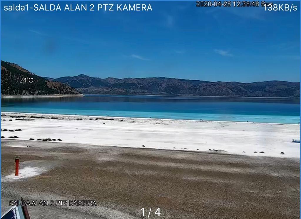 Salda Gölü 24 saat canlı yayına başladı