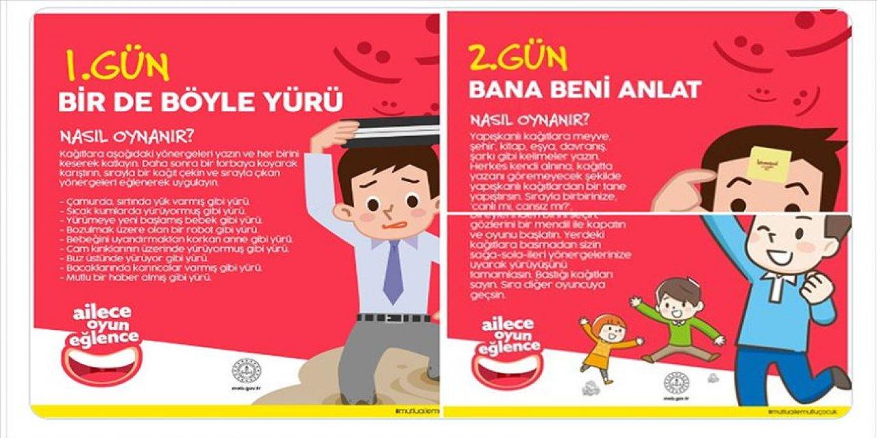 Milli Eğitim Bakanlığı'ndan oyun önerileri