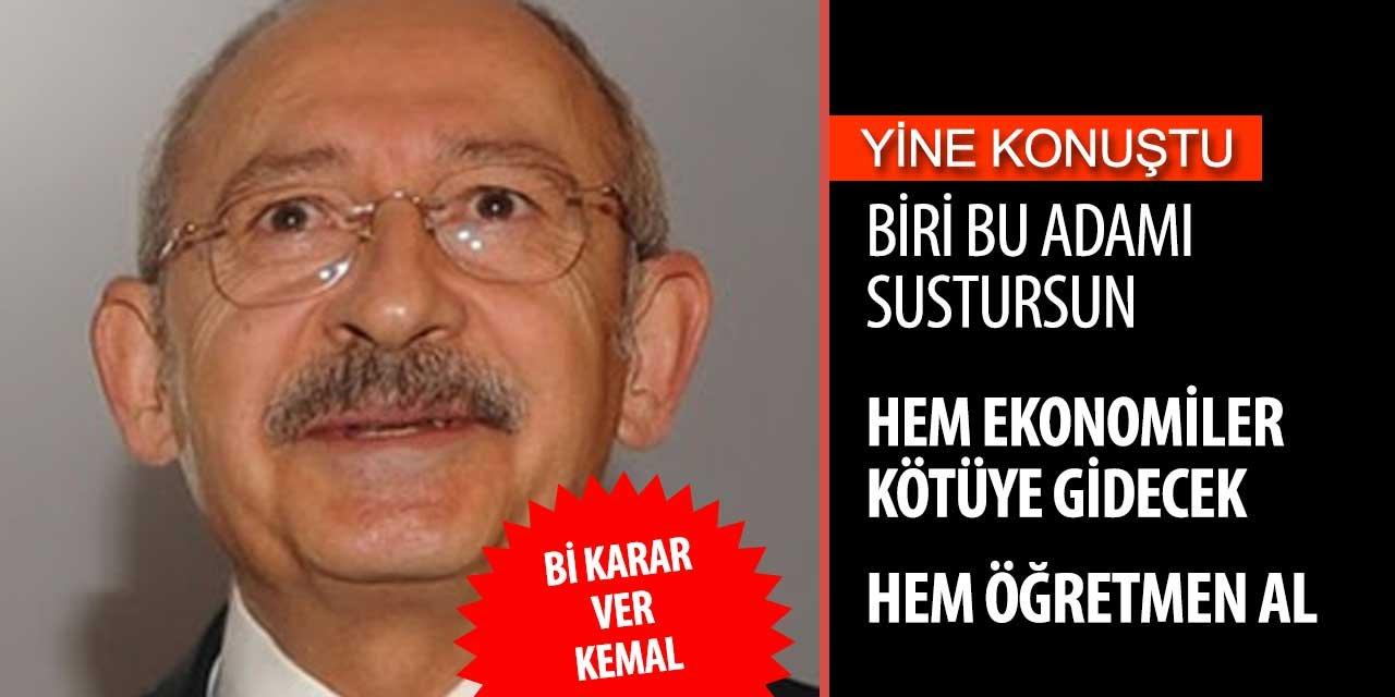 Kemal Kılıçdaroğlu konuştu yine kimse anlamadı