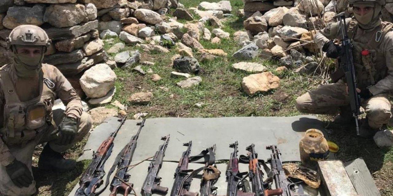 Beytüşşebap'ta PKK'ya ait silah ve mühimmat ele geçirildi