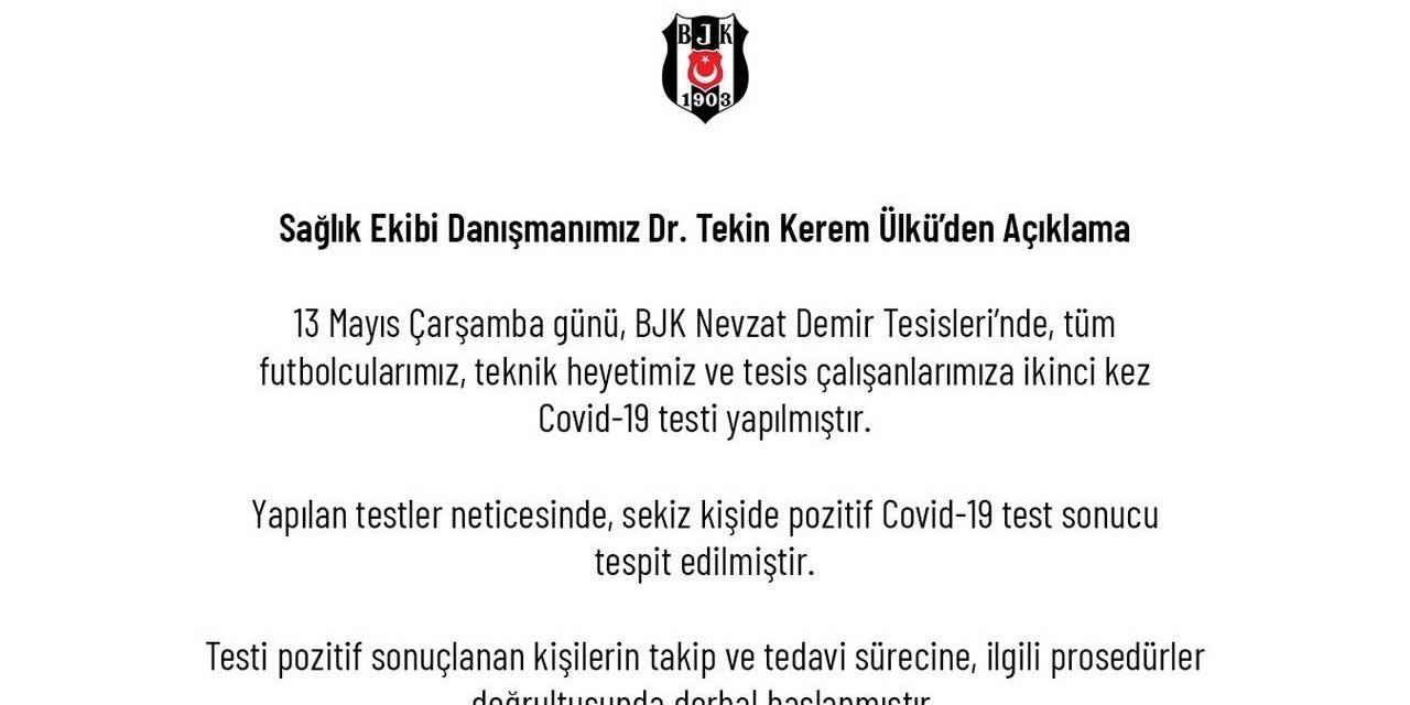 Beşiktaş'ta şok! 8 çalışanda virüs tespit edildi