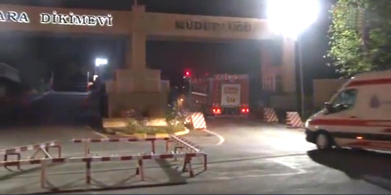 MSB Kara Dikimevi Müdürlüğü'nde yangın!
