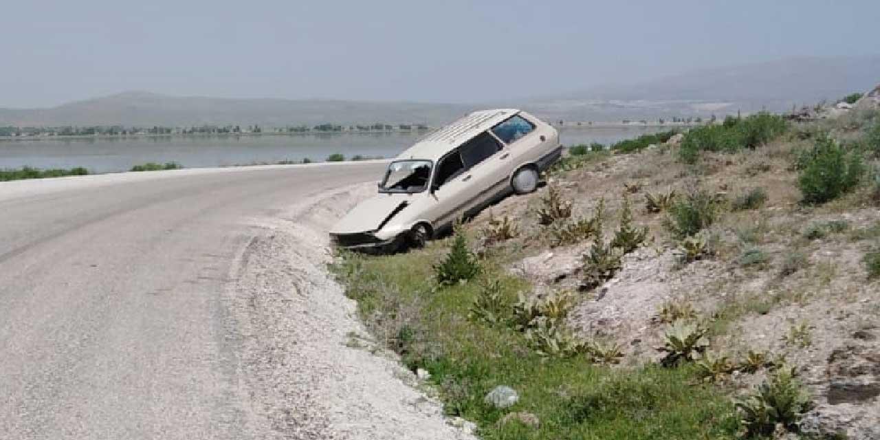 Göl kenarında acayip kaza!