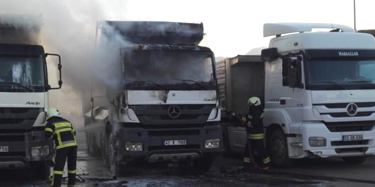 Konya'da kamyon yandı!