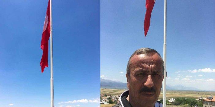 Yalıhüyük'e Dev Türk Bayrağı