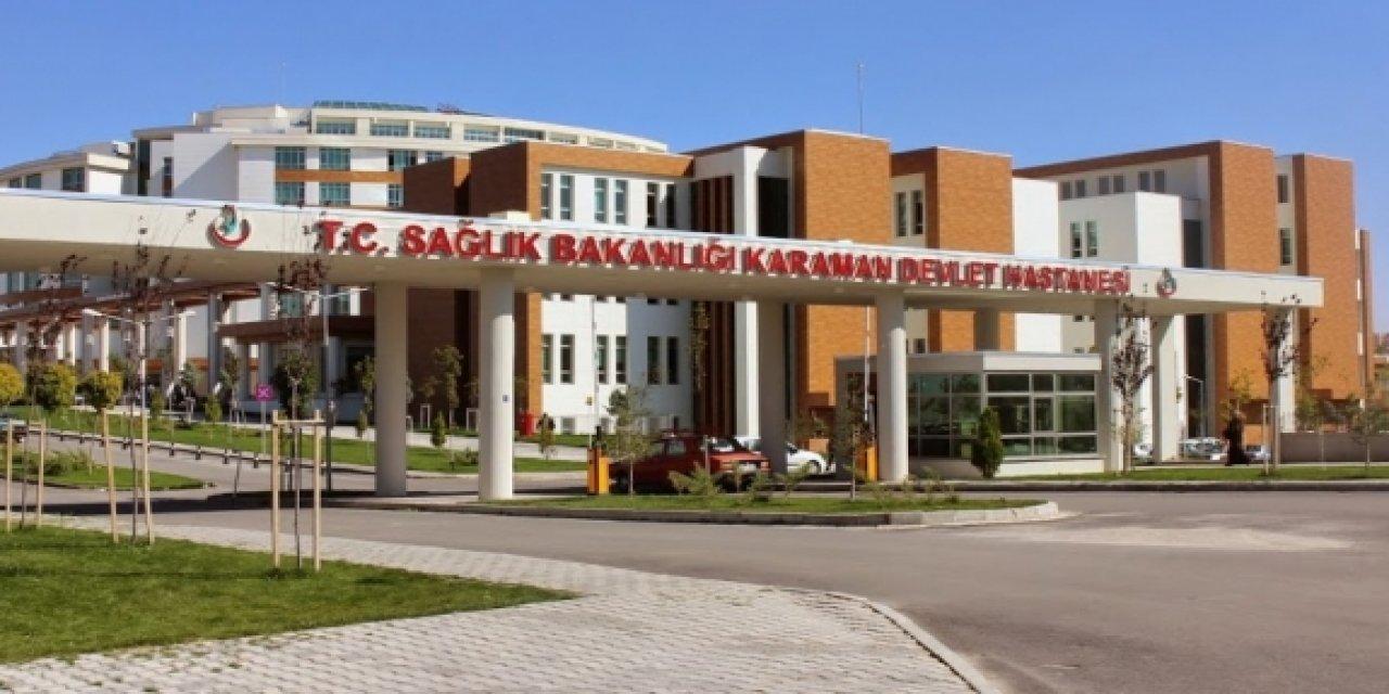 Karaman'da Hastaneye giden kişinin karnında şişe çıktı