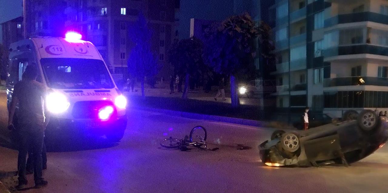 Konya'da otomobilin çarptığı 9 yaşındaki bisikletli çocuk feci şekilde can verdi