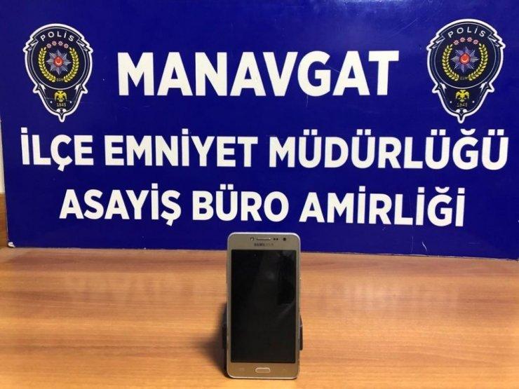 Manavgat'ta cep telefonu hırsızı tutuklandı