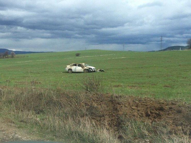 Otomobil kontrolden çıkarak tarlaya uçtu: 1 yaralı