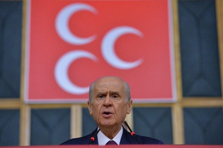 """MHP lideri Bahçeli: """"(Cumhurbaşkanı Erdoğan ve beraberindeki heyetin bekletildiği iddiası) Eğer Rusya yönetimi bunu kasıtlı bir şekilde kayda aldırıp sonra da servis ettirmişse bunun tanımı şüphesiz küstahlıktır, terbiyesizl"""