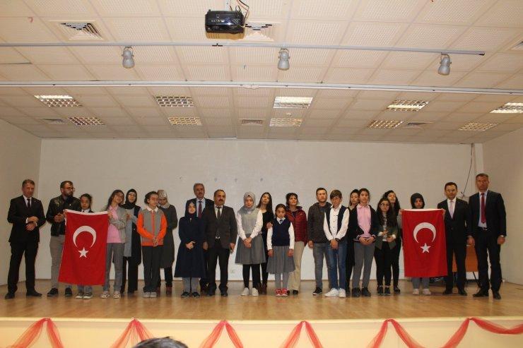 """Yunak'ta """"İstiklal Marşı'nı Ezbere ve Güzel Okuma"""" yarışması"""