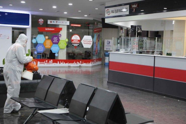 ATO hizmet binası korona virüse karşı dezenfekte edildi