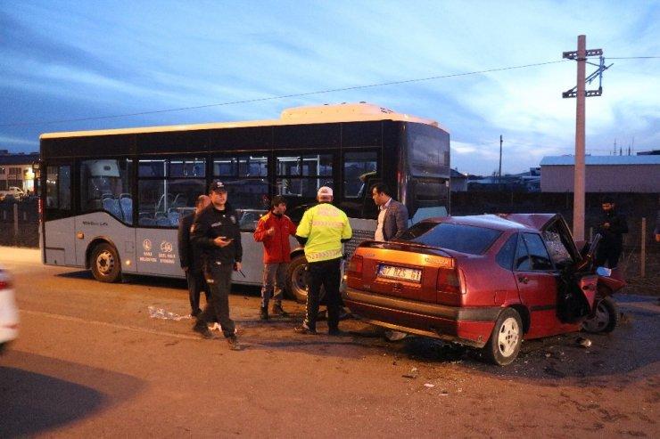 Otomobil hurdaya döndü : 1 yaralı