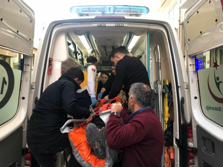 Dördüncü kattan düşen adam ağır yaralandı