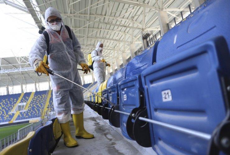 MKE Ankaragücü-Çaykur Rizespor maçı öncesi Eryaman Stadyumunda koronavirüs önlemi
