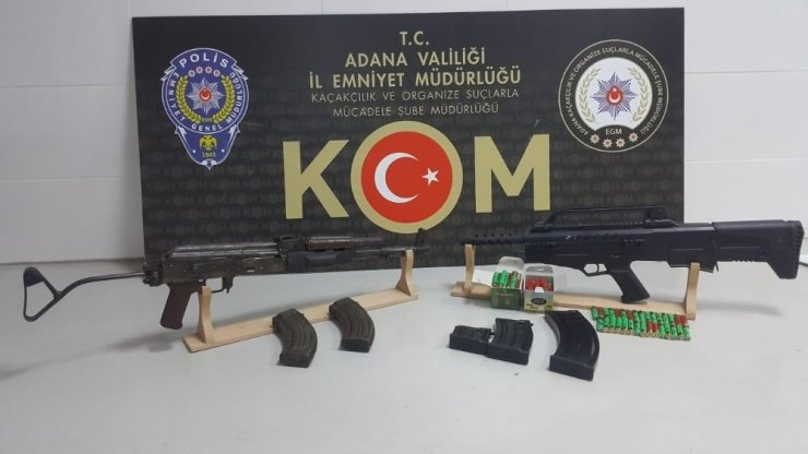Adana'da uzun namlulu silah operasyonu