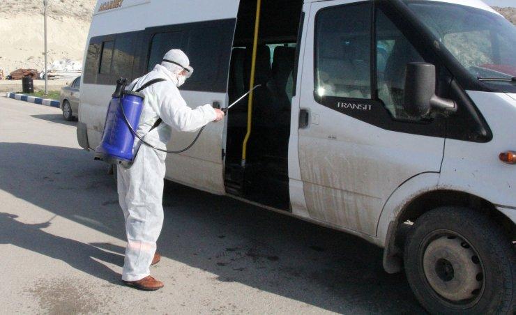 Beypazarı'nda okul servisleri ve toplu taşım araçları ilaçlandı