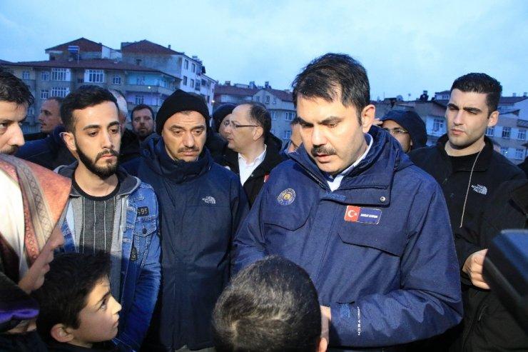 Bakan Kurum, Elazığ'da incelemelerde bulundu