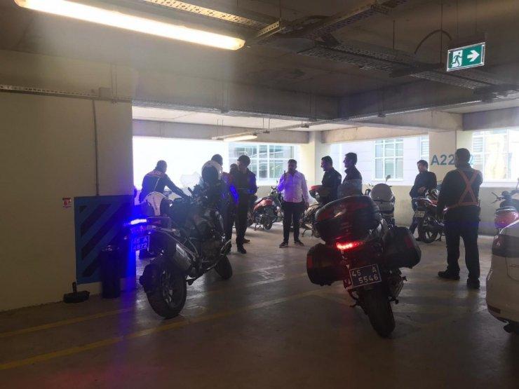 İzmir'den çalınan motosiklet Manisa'da bulundu