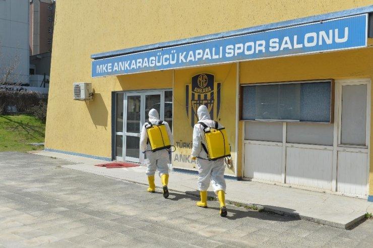 MKE Ankaragücü Tandoğan Tesisleri dezenfekte edildi