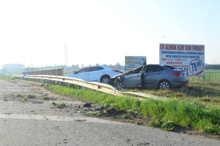 Kırklareli'nde ilginç kaza: yan yana dizildiler