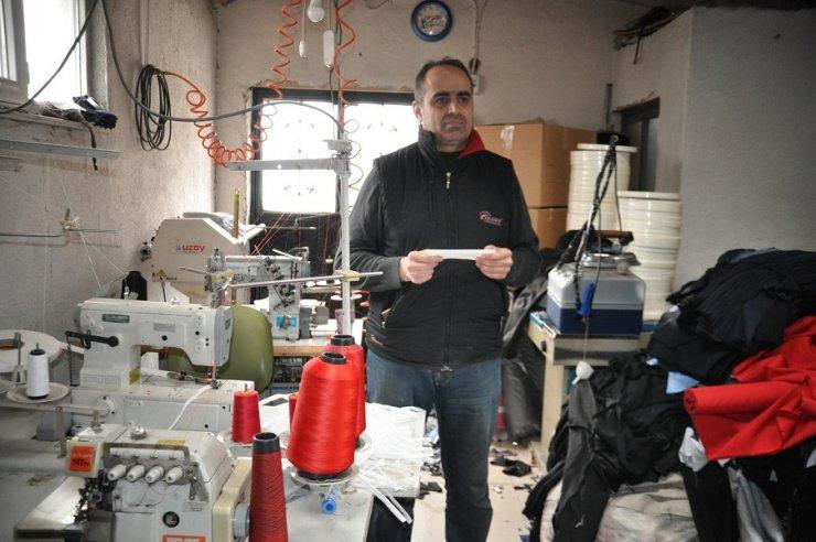 Seydişehir'de bir tekstil firması maske üretimine başladı
