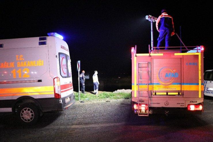 Polisten kaçan şüpheliler su kanalına uçtu