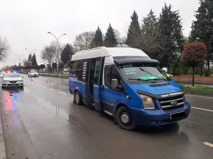 Sakarya'da taşıma kapasitesi kuralına uymayan 17 araca işlem yapıldı