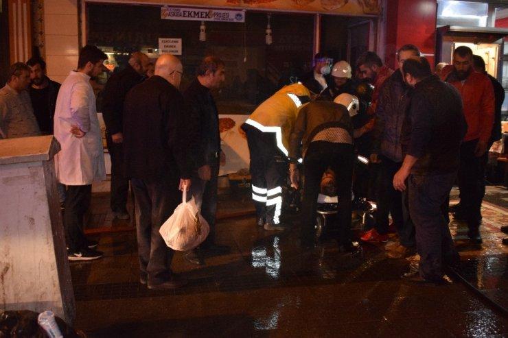 Malatya'da iş yerinde dumandan etkilenen şahıs hastaneye kaldırıldı