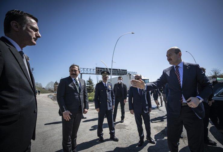 İçişleri Bakanı Soylu, polis kontrol noktasını ziyaret etti: