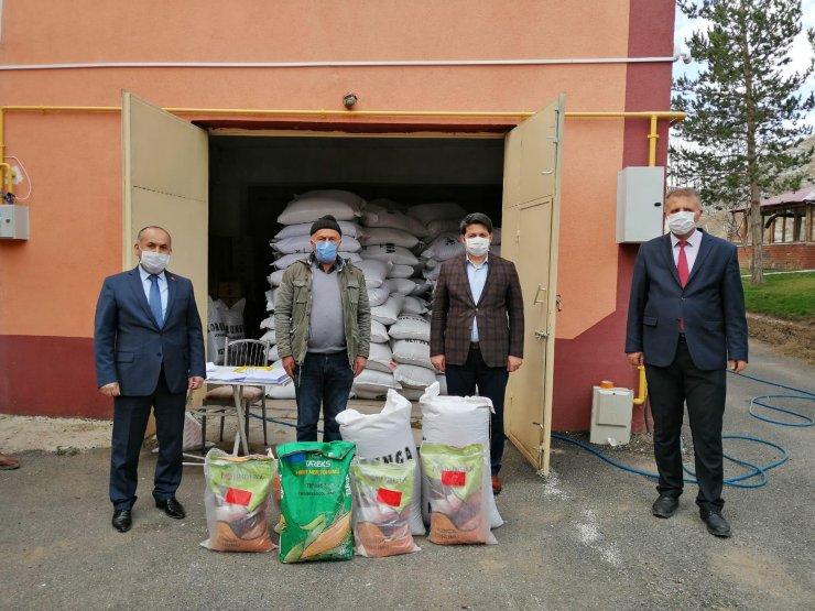 Zara'da çiftçilere tohum dağıtıldı