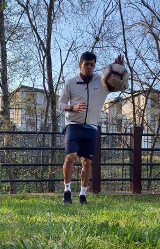 Trabzonsporlu Guilherme antrenmanlarını eşi ile birlikte yapıyor