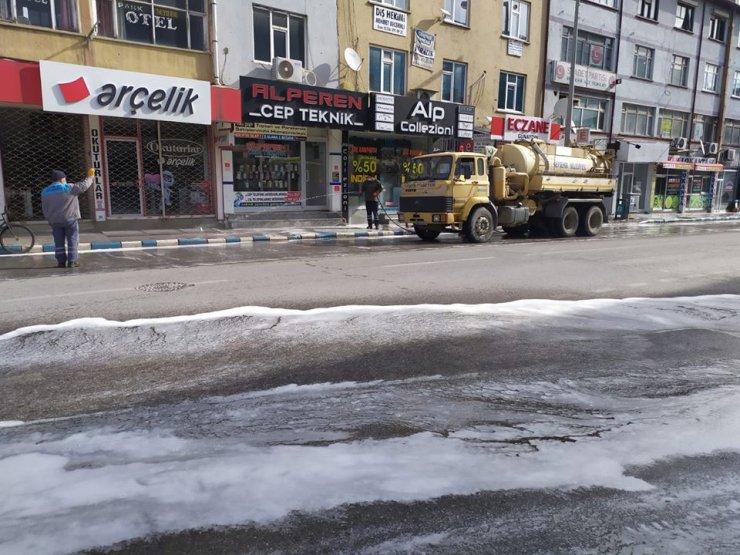 Beyşehir'de köşe bucak koronavirüs temizliği