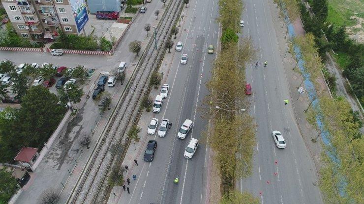 Konya'da kısıtlama kontrolleri sürüyor
