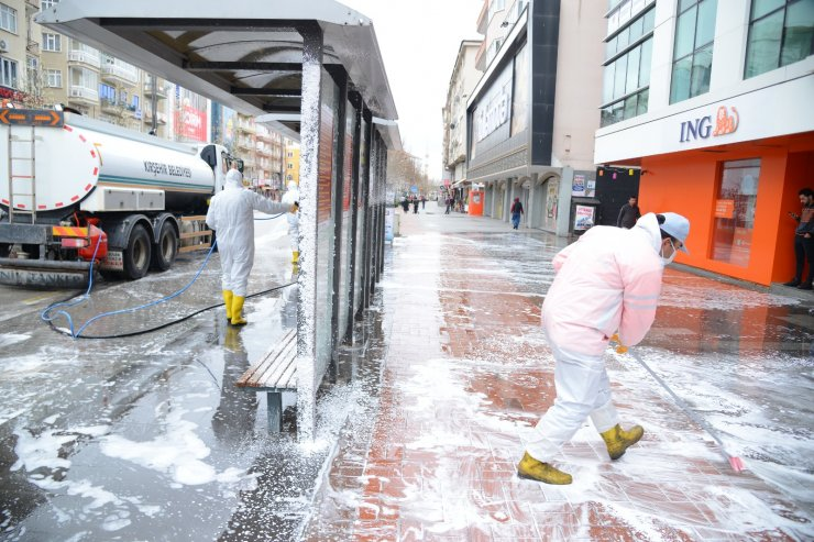 Kırşehir'de dezenfekte çalışmaları sürüyor