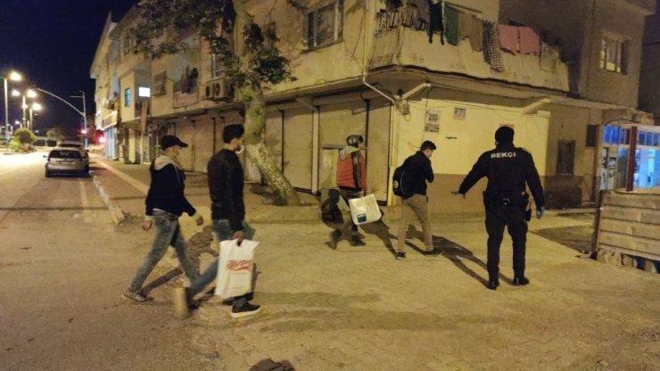 Yasağı ihlal eden 7 yabancı yakalandı