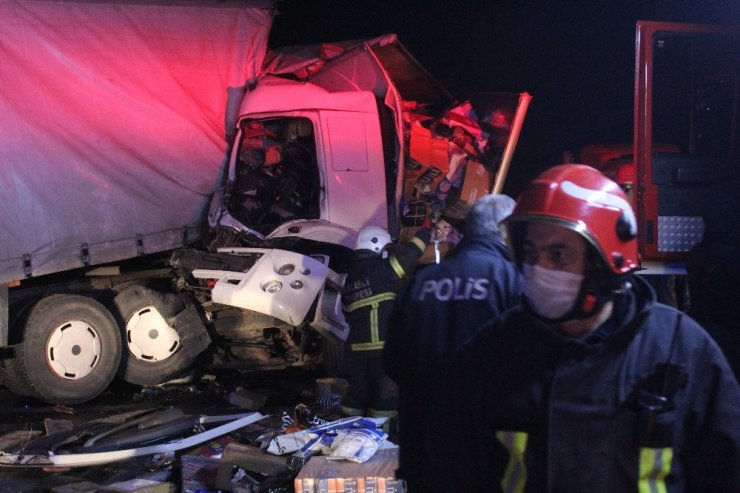 Kocaeli'de iki kamyon çarpıştı