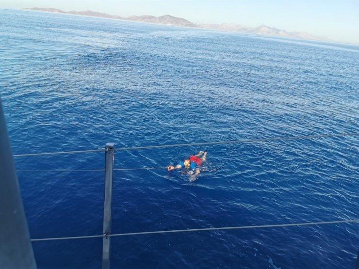 Yüzerek Yunanistan'a geçmeye çalışan sığınmacı yakalandı