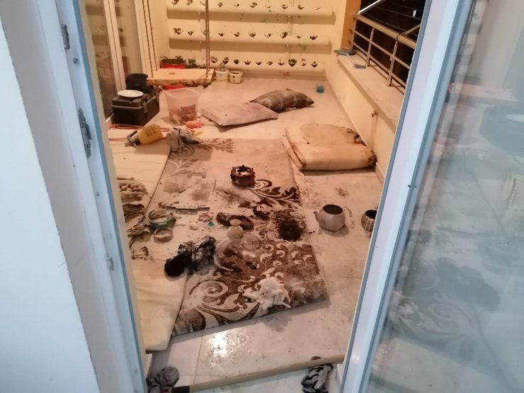 Nevşehir'de ısıtıcı jel kabı patladı