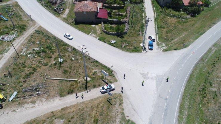 Afyon havadan tarandı bu görüntüler ortaya çıktı