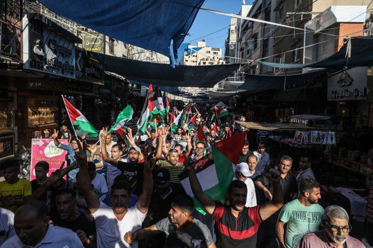 Gazze'de İsrail'in 'ilhak' planına karşı yürüyüş