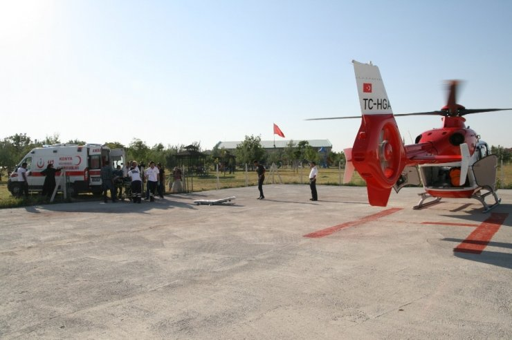 Helikopter ambulans Konya için harekete geçti!