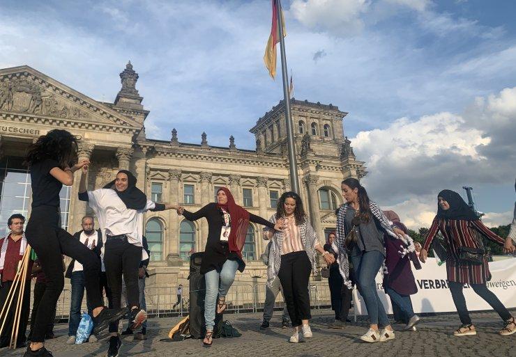 İsrail'in 'ilhak' planı Almanya'da protesto edildi