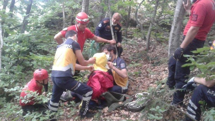 Uludağ'da manzaraya bakmak istediler AFAD kurtardı
