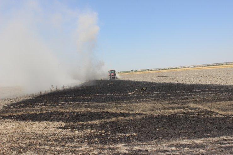 Konya'da ekin yangınları bitmiyor! Bugün de 45 dekar buğday yandı